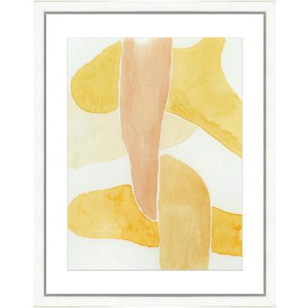 """Pastel watercolor IV"" Framed Archival Paper Wall Art (26 in. x 32 in. in full size)"