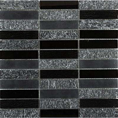 Illumina Shimmer Glossy 11.73 in. x 11.73 in. x 8mm Glass Mesh-Mounted Mosaic Tile