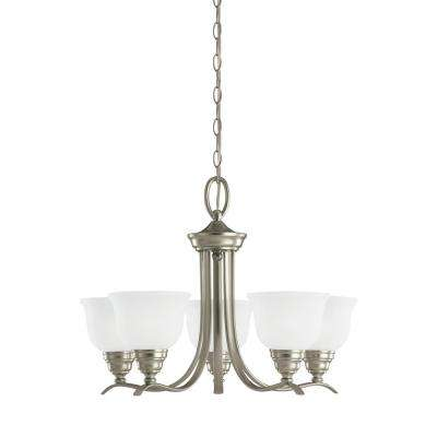 Wheaton 5-Light Brushed Nickel Chandelier