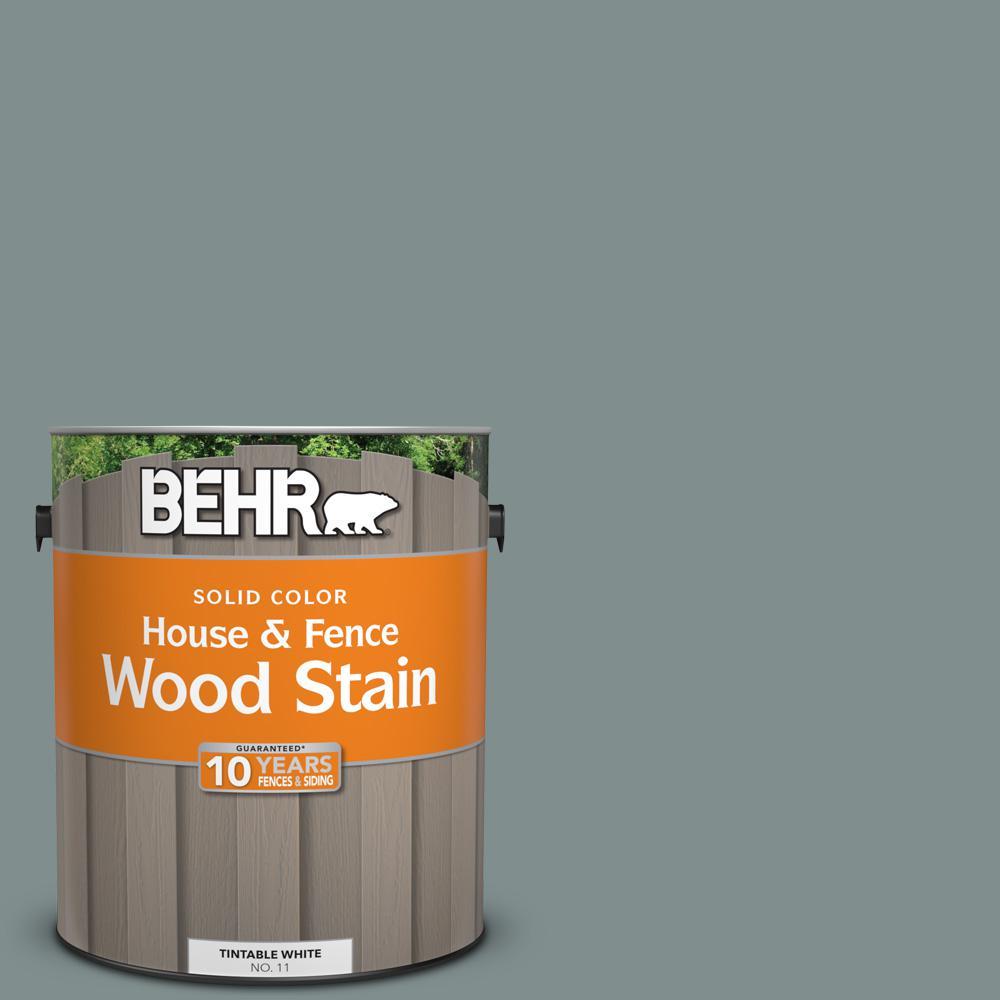 Behr 1 gal sc 125 stonehedge solid color house and fence - Behr exterior wood stain reviews ...