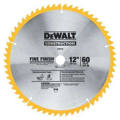 Series 20 12 in. 60T Fine Finish Saw Blade