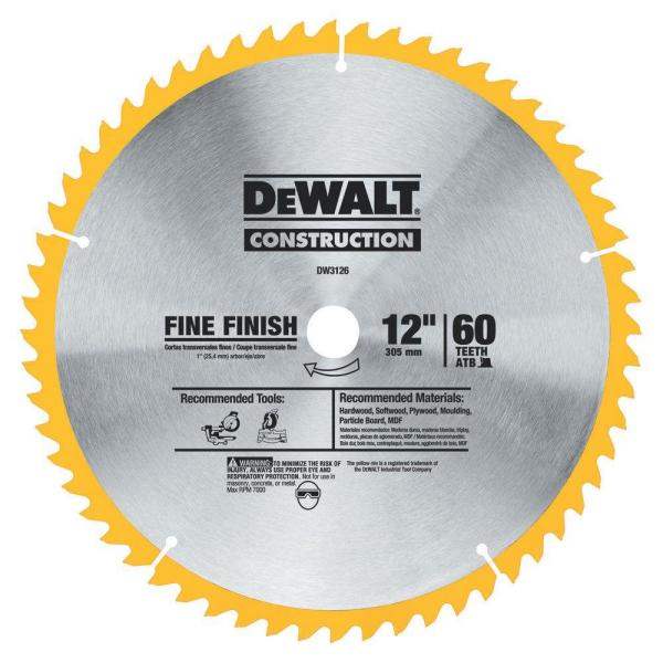 DeWalt Construction Saw Blade 12u0022, 1.0 CT