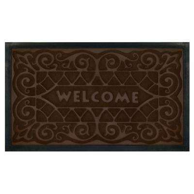 Coffee 18 in. x 30 in. Wrought Iron Door Mat