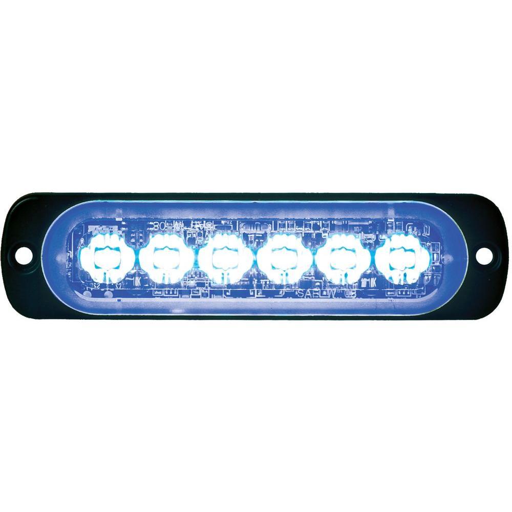 LED Blue Horizontal Strobe Light