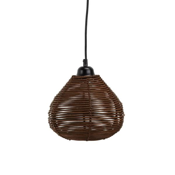 Silverwood Furniture Reimagined Delilah 6 Watt Brown Woven Wicker Hanging 1 Light Integrated Led Pendant Cplw1027 The Home Depot