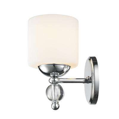 Laurel Designs Geneva 1-Light Chrome Bath Light