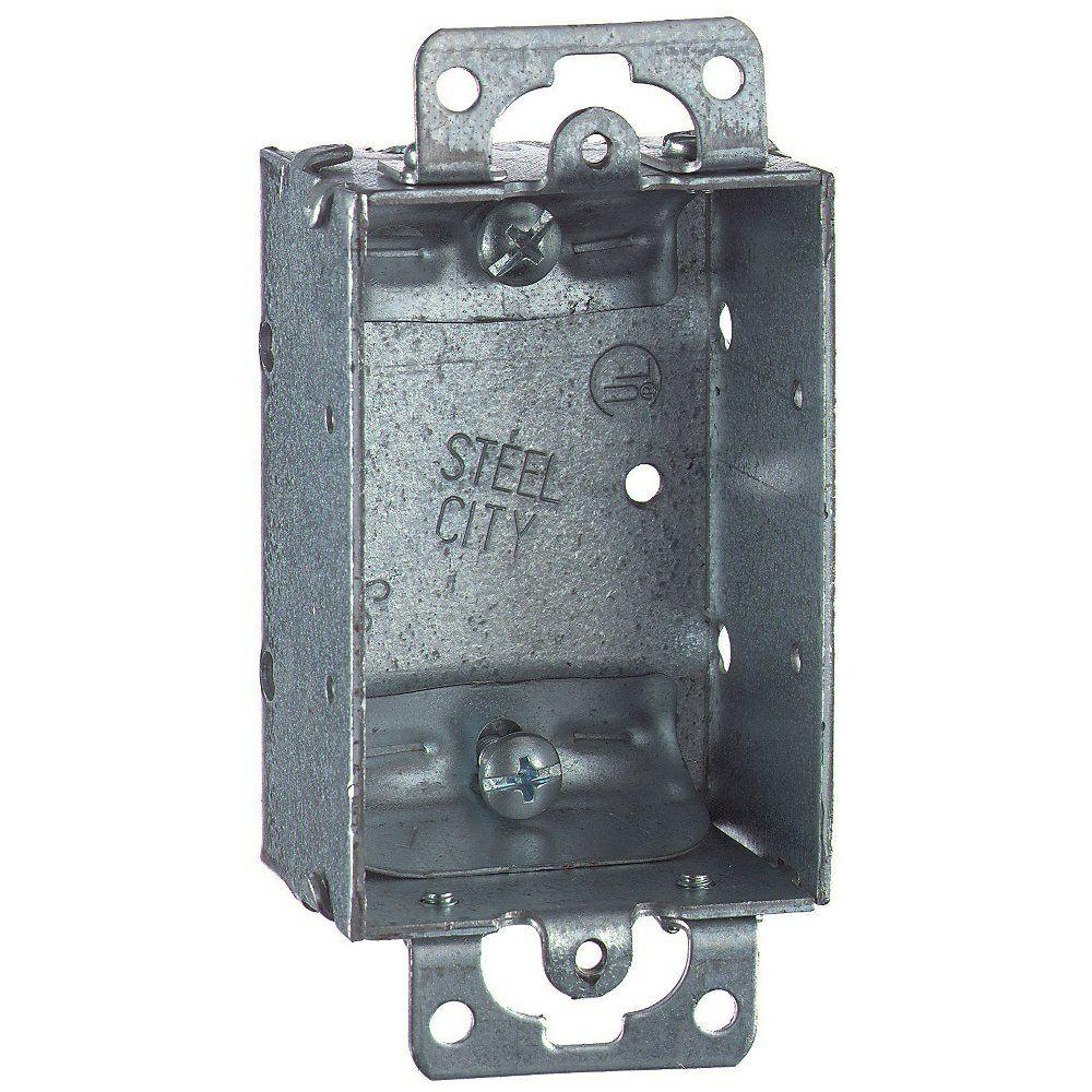 Steel City 1-Gang 3 in. x 1-1/2 in. Deep Non-Gangable Old Work Switch Box (Case of 25)