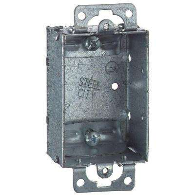 1-Gang 3 in. x 1-1/2 in. Deep Non-Gangable Old Work Switch Box (Case of 25)