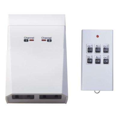 15-Amp Indoor Plug-In Wireless Remote Dual-Outlet Appliance Control, White