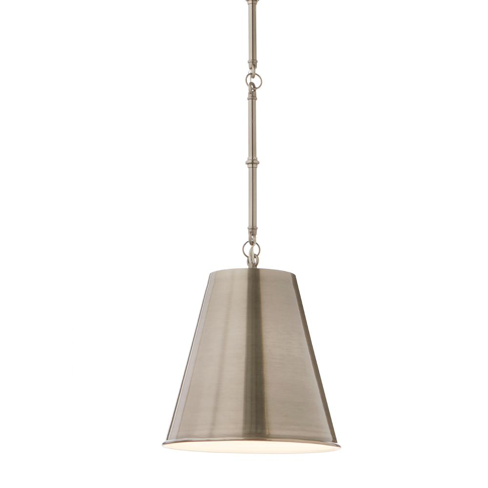 HomeDecoratorsCollection Home Decorators Collection 1-Light Pewter Mini Pendant with Decor Rod