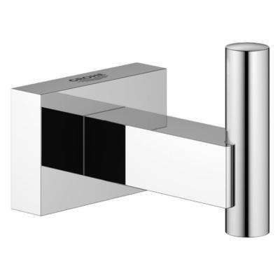 Essentials Cube Single Robe Hook in StarLight Chrome
