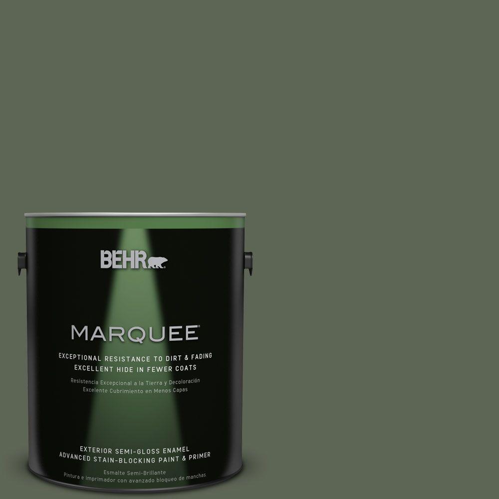 BEHR MARQUEE 1-gal. #BXC-06 Amazon Foliage Semi-Gloss Enamel Exterior Paint