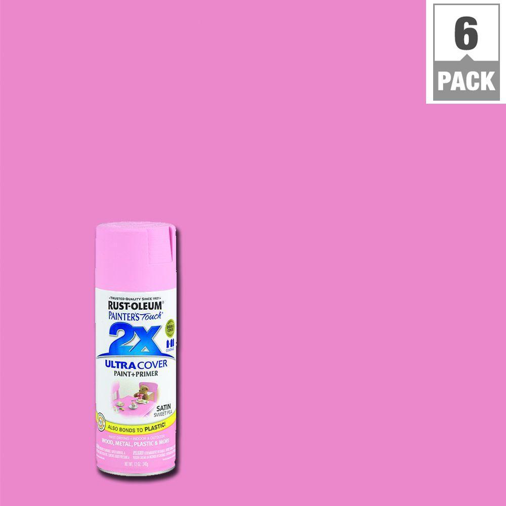 Satin Sweet Pea General Purpose Spray Paint 6 Pack