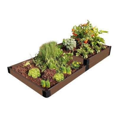 One Inch Series 4 ft. x 8 ft. x 11 in. Uptown Brown Composite Terraced Raised Garden Bed