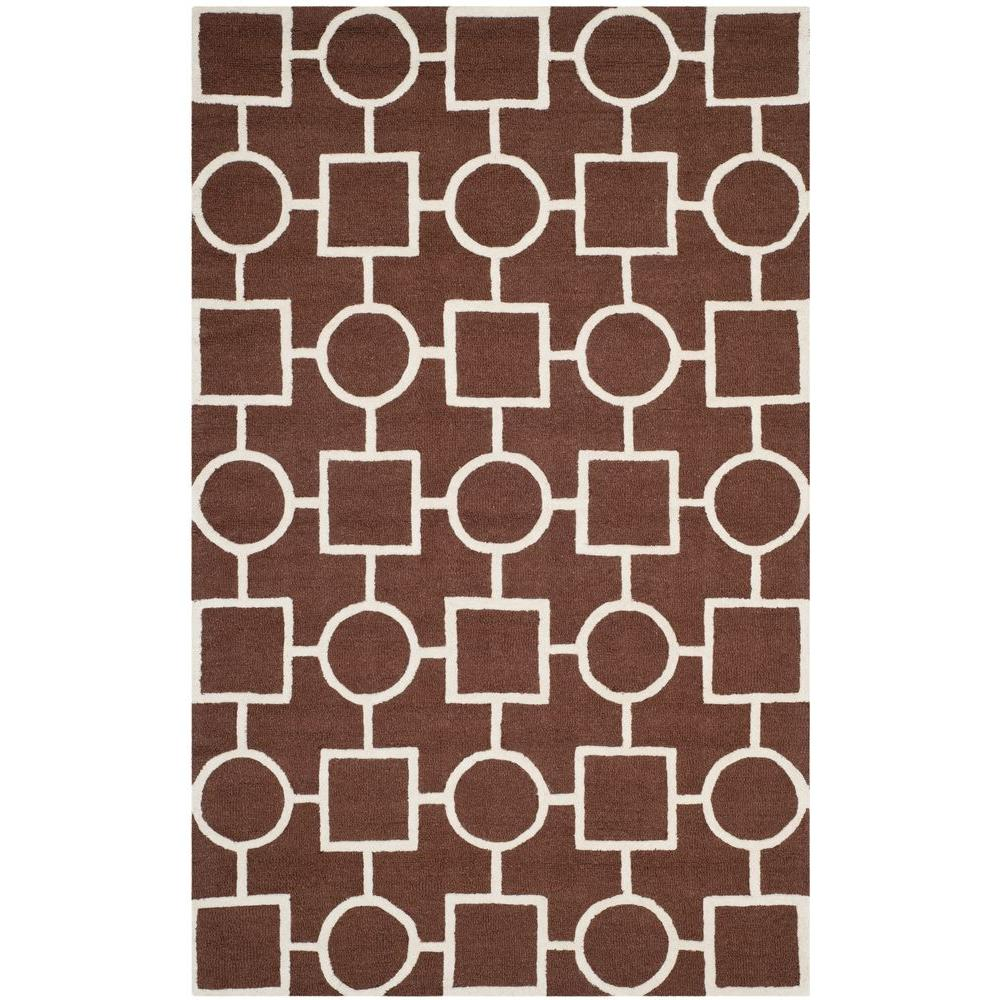 Cambridge Dark Brown/Ivory 6 ft. x 9 ft. Area Rug