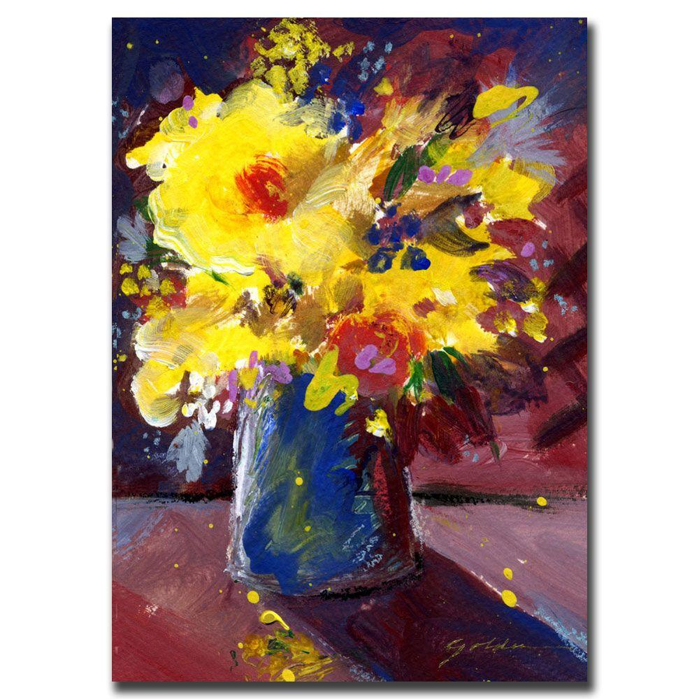 Trademark Fine Art 35 in. x 47 in. Yellow Flowers Canvas Art