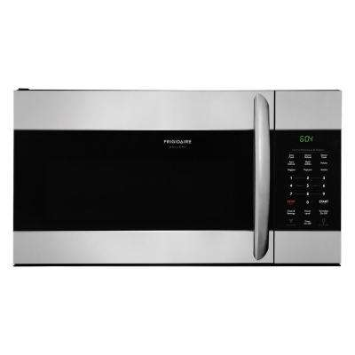 '1.7 cu. ft. Over the Range Microwave in Smudge-Proof Stainless Steel with Sensor Cooking' from the web at 'https://images.homedepot-static.com/productImages/7930aedc-86bf-4186-ba8f-72896b6decf5/svn/smudge-proof-stainless-steel-frigidaire-gallery-over-the-range-microwaves-fgmv176ntf-64_400_compressed.jpg'