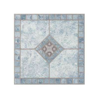 Portfolio Blue Diamond 12 in. x 12 in. Peel and Stick Vinyl Tile Flooring (9 sq. ft./case)