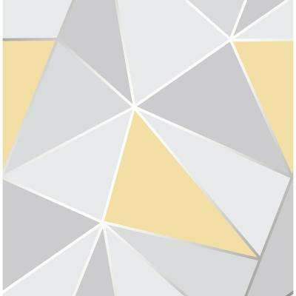 56.4 sq. ft. Arken Yellow Geometric Wallpaper
