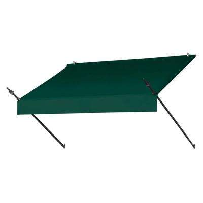 6 ft. Designer Manually Retractable Awning (36.5 in. Projection) in Forest Green