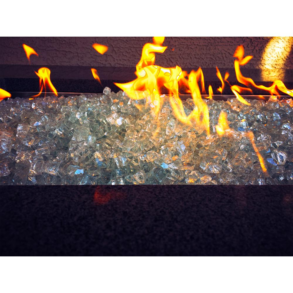 Large Aquamarine Fire Glass
