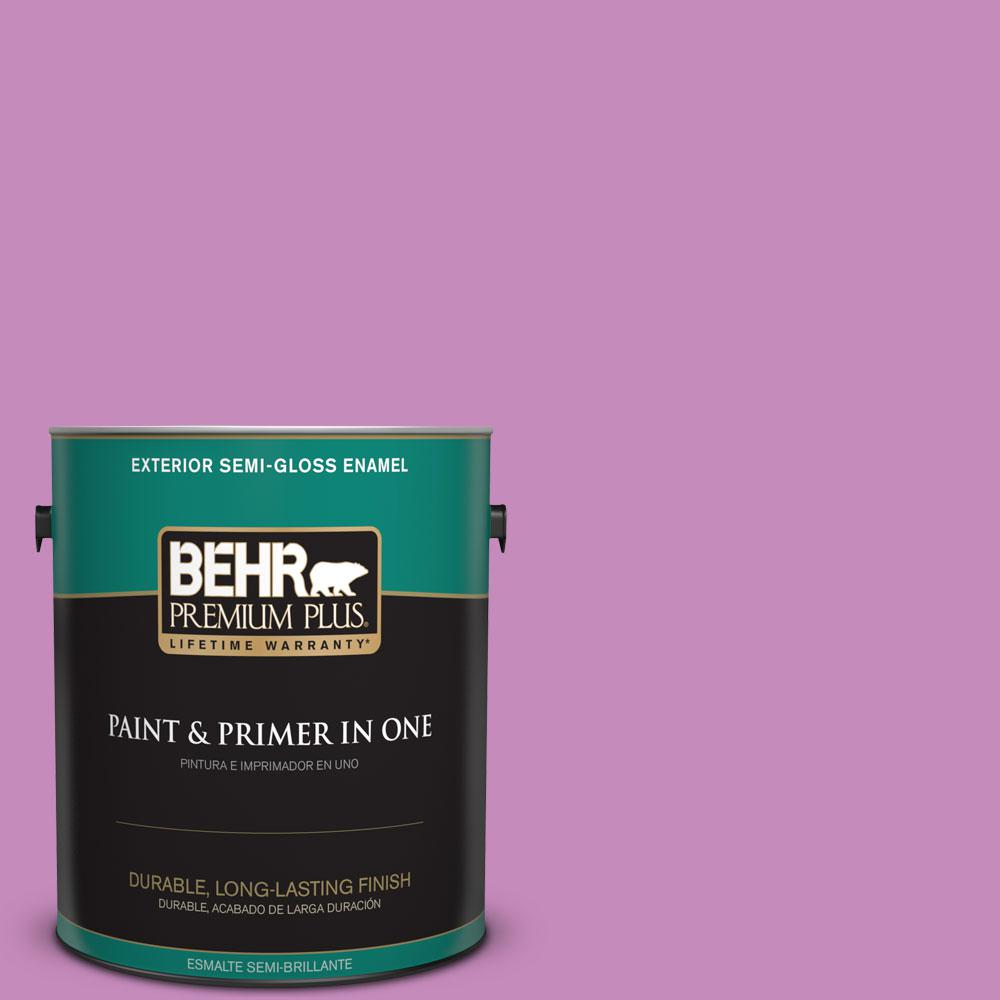 1-gal. #P110-4 Rock Star Pink Semi-Gloss Enamel Exterior Paint
