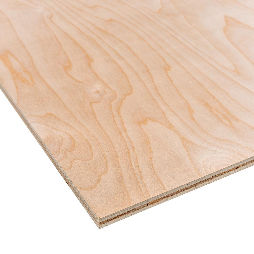 Unbranded 1/2 in. x 2 ft. x 4 ft. Radiata Pine Plywood ...