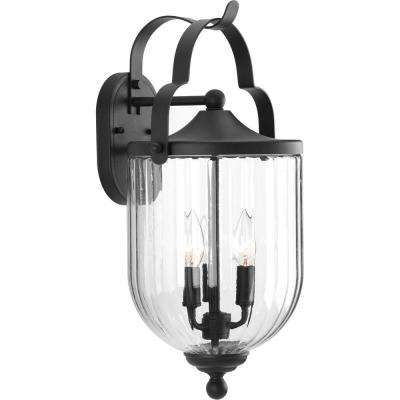 McPherson Collection 3-Light Black Outdoor Wall Mount Lantern
