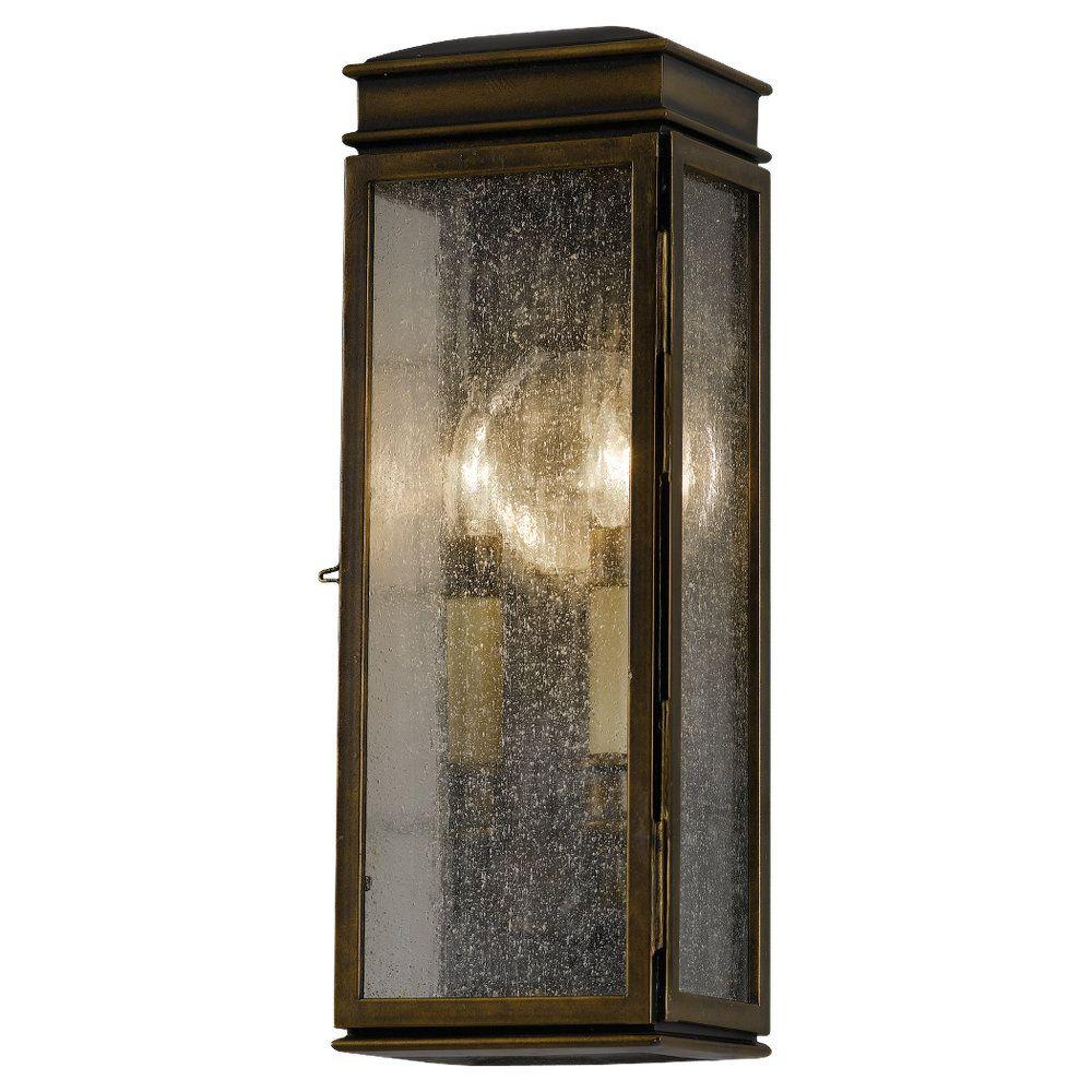 Whitaker 2-Light Astral Bronze Outdoor Wall Lantern
