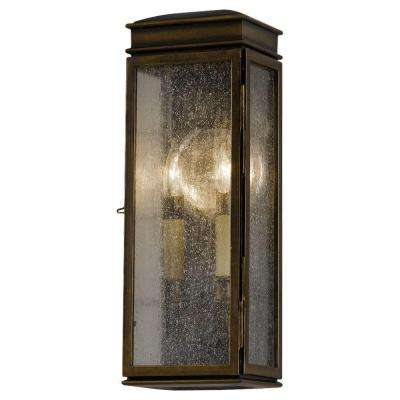 Whitaker 2-Light Astral Bronze Outdoor 17.25 in. Wall Lantern Sconce