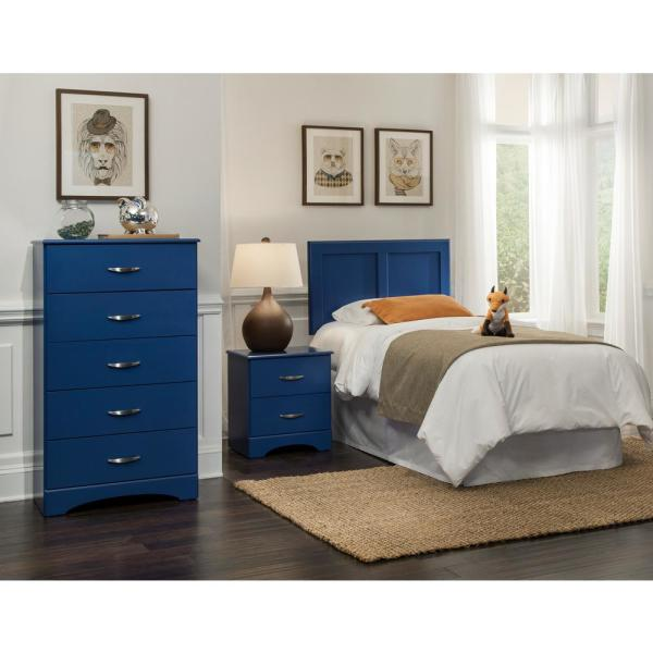 Royal Blue Twin Collection Bedroom Set