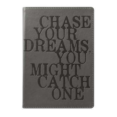 6 in. x 8 in. Chase Your Dreams Style Journal, Gray