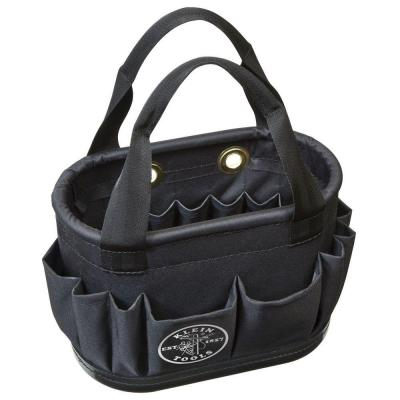 Hard-Body Bucket, 29-Pocket Aerial Bucket, Black