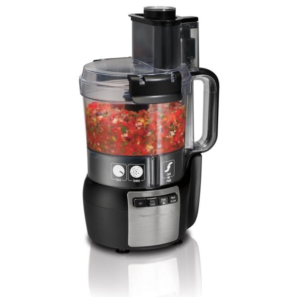 Hamilton Beach Stack and Snap 10-Cup 3-Speed Black Food Processor