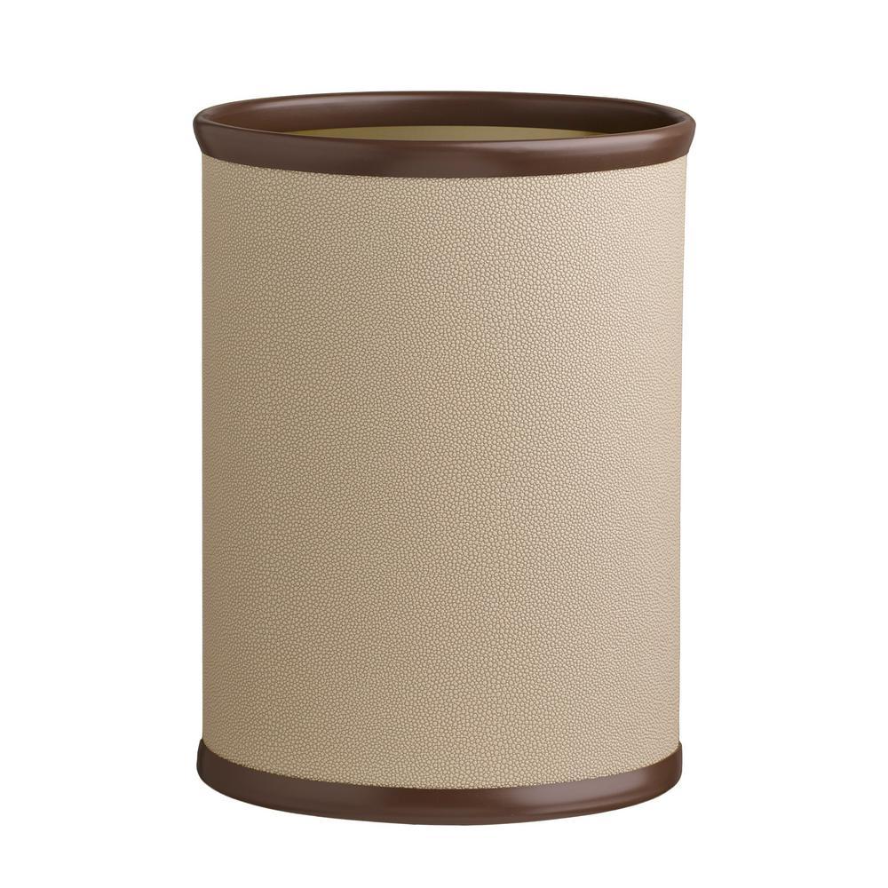 Cosmopolitan 13 Qt. Latte Oval Waste Basket