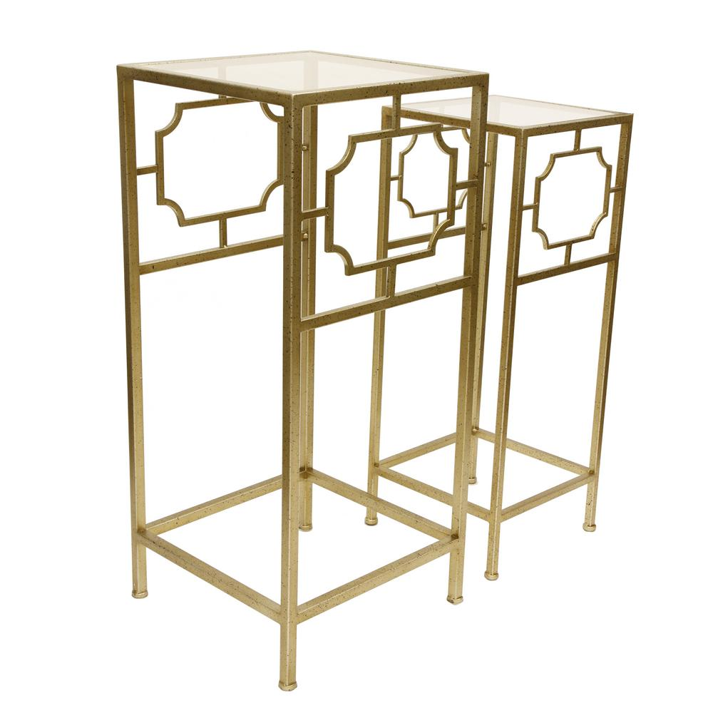 Gold Class Accent Table Set