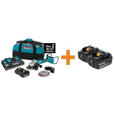 18-Volt X2 LXT Lithium-Ion (36V)Brushless Cordless 7 in. Cut-Off/Angle Grinder Kit w/(2) Batteries and BONUS Battery 2Pk