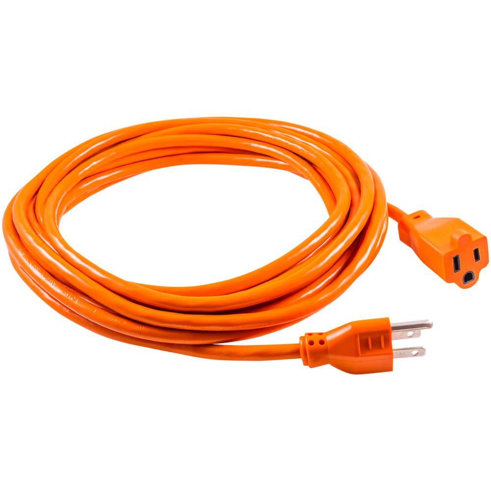Outdoor Electrical Wire The Home Depot Extension Cords Surge Protectors 3 16 Gauge Grounded Indoor Cord
