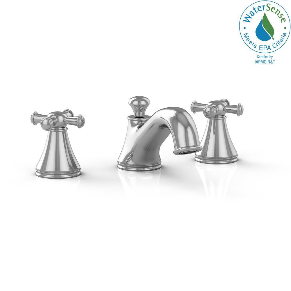Toto Vivian 8 In Widespread 2 Handle Bathroom Faucet With Cross