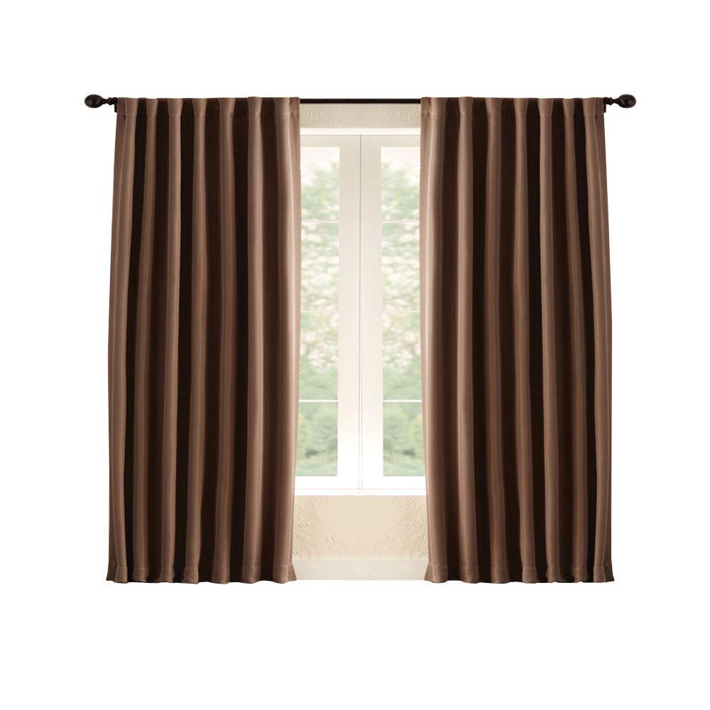 Mocha Room Darkening Back Tab Curtain