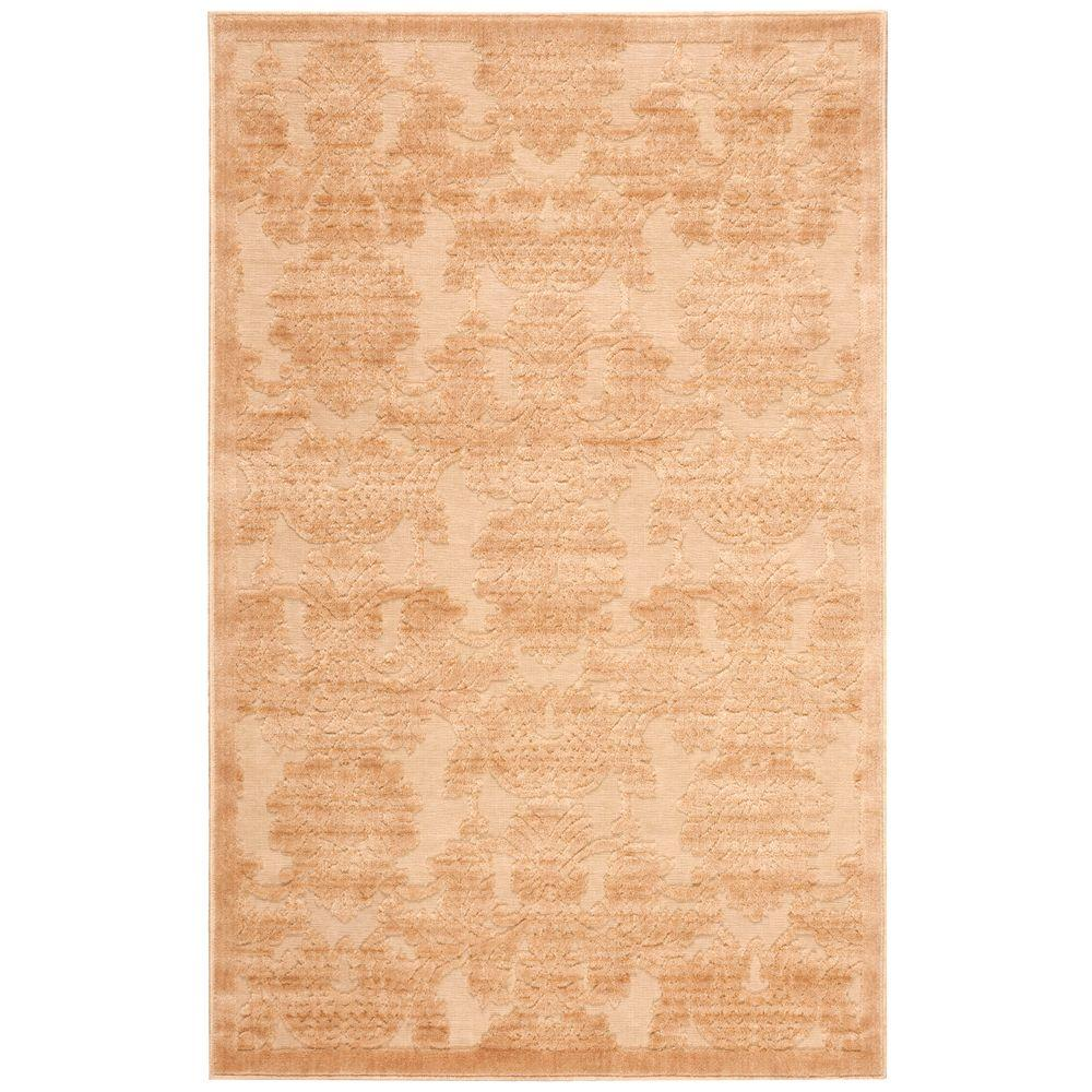 Nourison Graphic Illusions Light Gold 2 ft. 3 in. x 3 ft. 9 in. Accent Rug