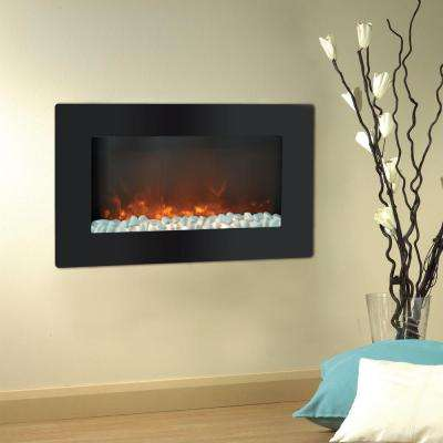 Callisto 30 in. Wall-Mount Electric Fireplace in Black