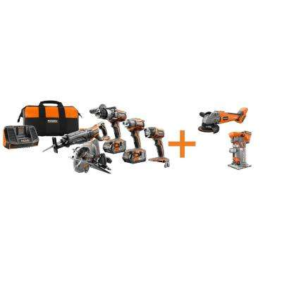 GEN5X 18-Volt 5 Piece Combo Kit with BONUS 18-Volt Brushless Grinder and 18-Volt Brushless Trim Router