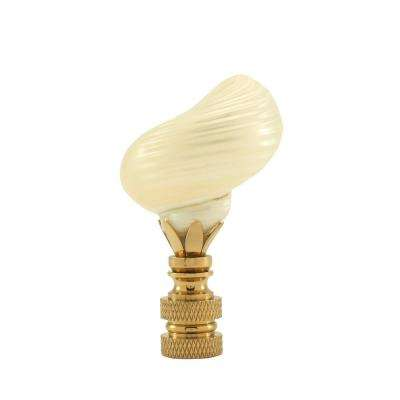 Silver Mounth Faux Shell Lamp Finial