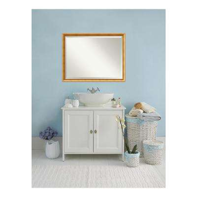 Townhouse Gold Wood 43 in. W x 33 in. H Single Traditional Bathroom Vanity Mirror