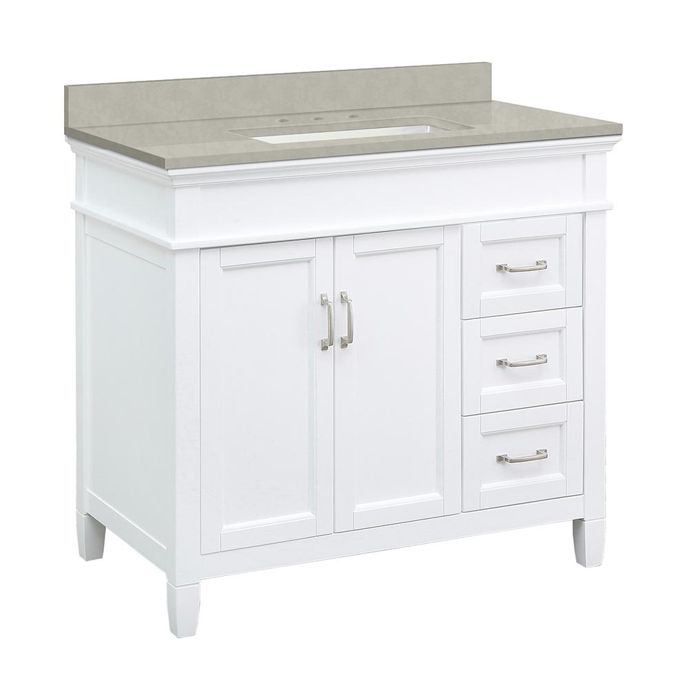 Foremost Ashburn 37 In W X 22 In D Vanity Cabinet In