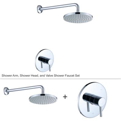 Single-Handle 1-Spray Shower Faucet with Valve in Chrome (Valve Included)