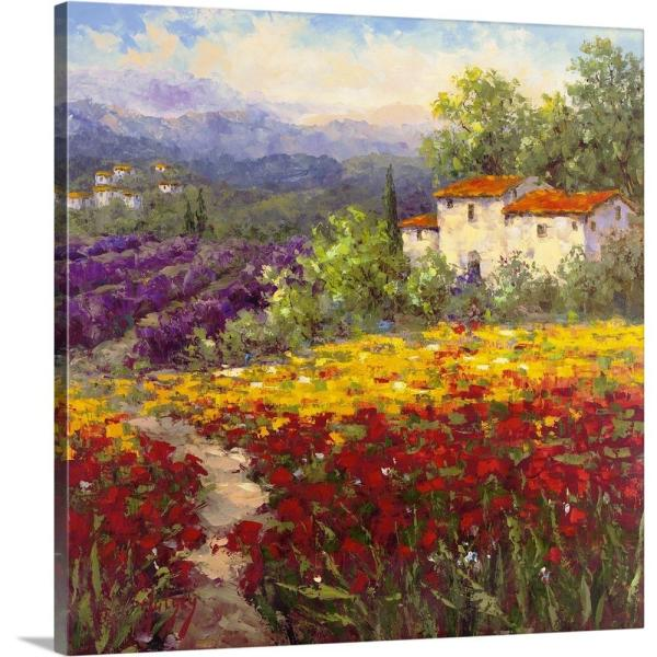 24 in. x 24 in. ''Fleur du Pays II'' by Image Conscious Canvas Wall Art
