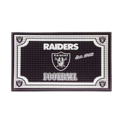 Oakland Raiders 18 in. x 30 in. Embossed Welcome Mat
