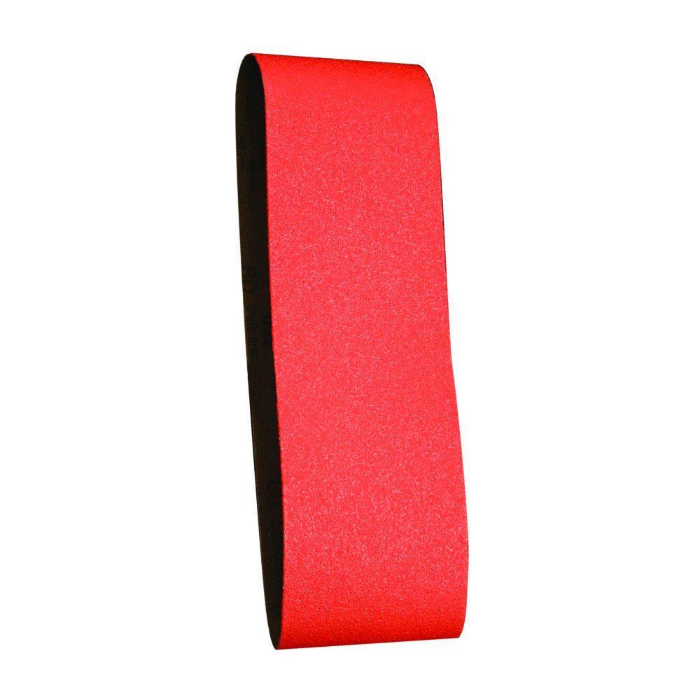 3 in. x 21 in. 36-Grit Sanding Belt (5-Pack)